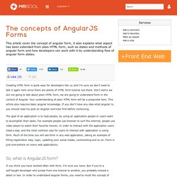 The concepts of AngularJS Forms