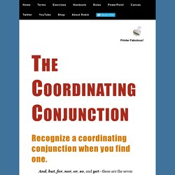 The Coordinating Conjunction