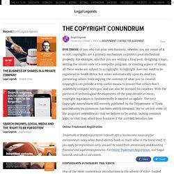 THE COPYRIGHT CONUNDRUM