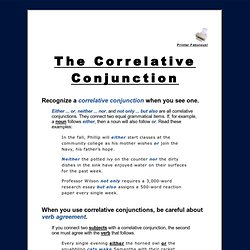 The Correlative Conjunction