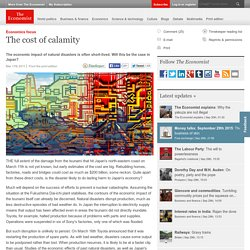 Economics focus: The cost of calamity
