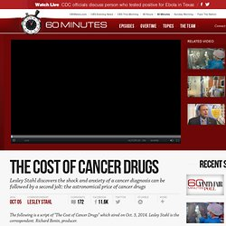 The cost of cancer drugs