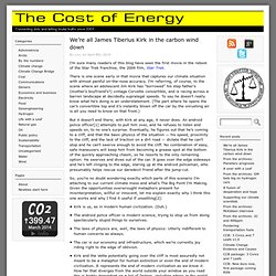 The Cost of Energy