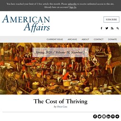 The Cost of Thriving