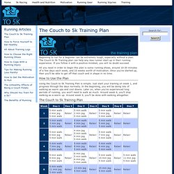 The Couch to 5k Training Plan | From Couch to 5k