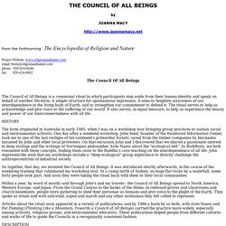 THE COUNCIL OF ALL BEINGS