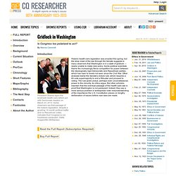 The CQ Researcher Online