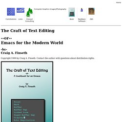 The Craft of Text Editing