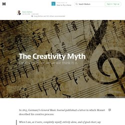 The Creativity Myth — How to Fly a Horse
