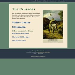 The Crusades - home page