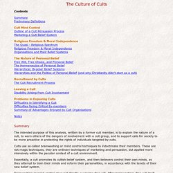 The Culture of Cults