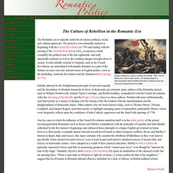 The Culture of Rebellion in the Romantic Era