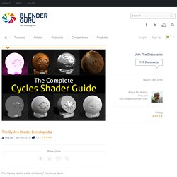 The Cycles Shader Encyclopedia