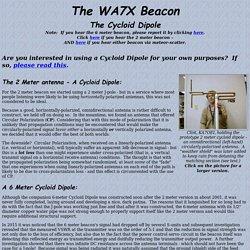 The Cycloid Dipole at the WA7X Beacon