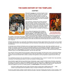 THE DARK HISTORY OF THE TEMPLARS