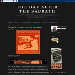 The Day After The Sabbath