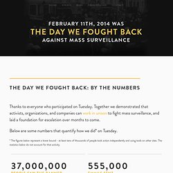 The Day We Fought Back By The Numbers