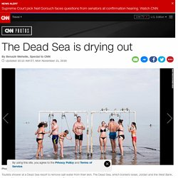 The Dead Sea is drying out