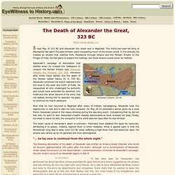The Death of Alexander the Great, 323 BC