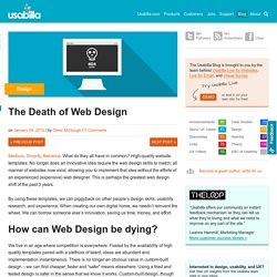 The Death of Web Design
