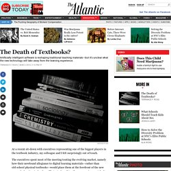 The Death of Textbooks?