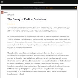 The Decay of Radical Socialism