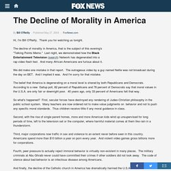 The Decline of Morality in America