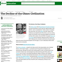 The Decline of the Olmec Civilization