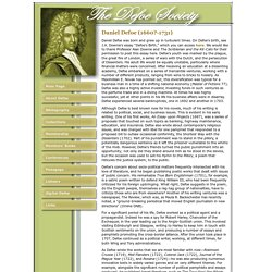 The Defoe Society: About Daniel Defoe