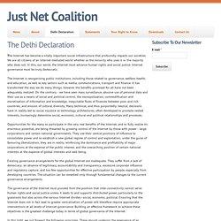 The Delhi Declaration - Internet comme un patrimoine mondial