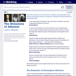 The Delusions of Atheists