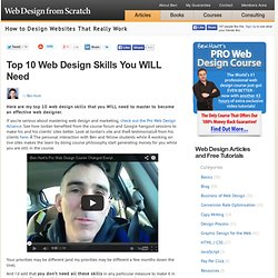 The 10 Most Important Skills You Need to be a Web Designer