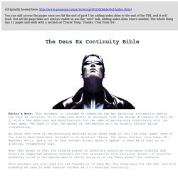 The Deus Ex Bible (Rehost)