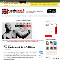 The Devolution of the U.S. Military