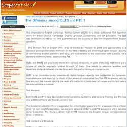 The Difference among IELTS and PTE ?