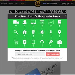 The Difference Between Art and Design