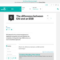 The difference between EAI and an ESB