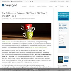 The Difference Between Tier I ERP, Tier II ERP, and Tier III ERP