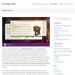 The Digital DM » D&D OneNote