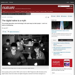 The digital native is a myth