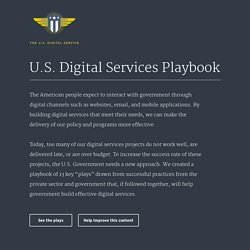 The U.S. Digital Services Playbook