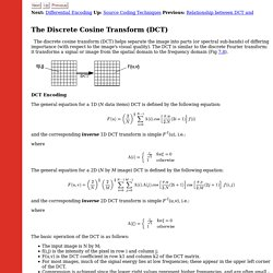 The Discrete Cosine Transform (DCT)