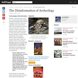 The Disinformation of Archeology