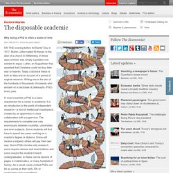 Doctoral degrees: The disposable academic