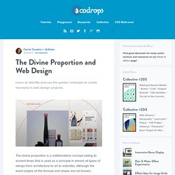 The Divine Proportion and Web Design