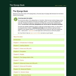 The Django Book: Version 2.0 (English)