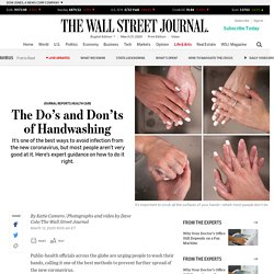 The Do's and Don'ts of Handwashing
