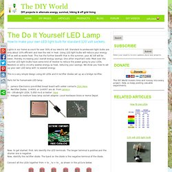 DIY LED lamp