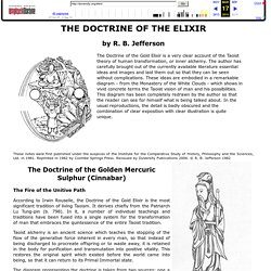 THE DOCTRINE OF THE ELIXIR - R. B. Jefferson
