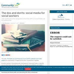 The dos and don'ts on social media for social workers